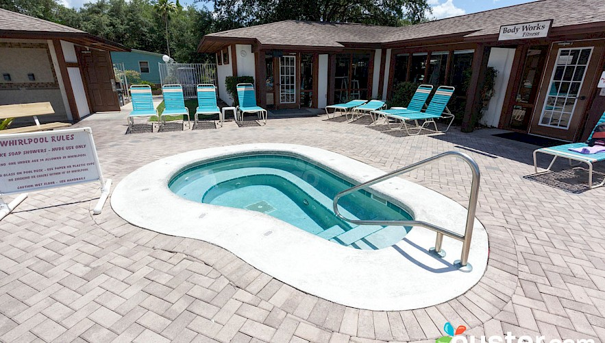 Heated swimming pools cypress cove nudist resort for Heated garden swimming pools